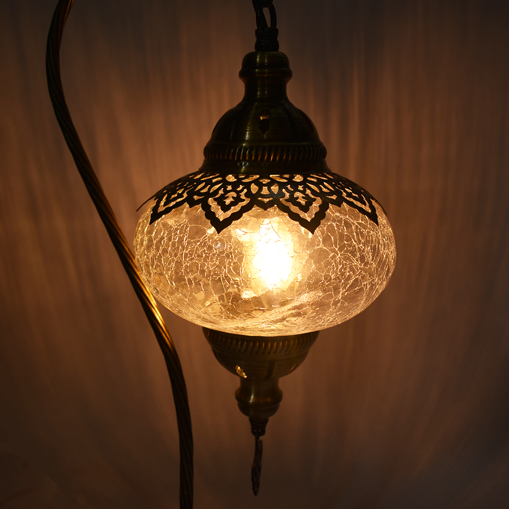 Turkish Ottoman Table Lamp Crackle Glass Vazo Market Turkish Home Dećor